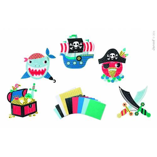 Set creativ Janod - Mozaic - Insula piratilor - Janod (J07761)