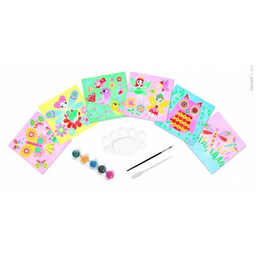 Set creativ Janod - Pictura cu acuarele - Feeria culorilor - Janod (J07762)