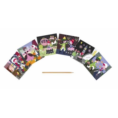 Set creativ - Carduri de razuit - Cenusareasa - Janod