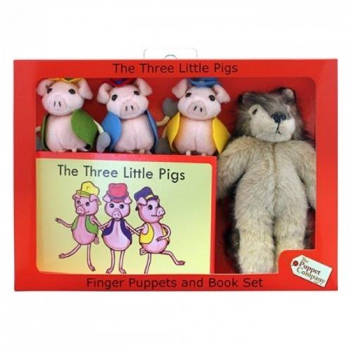 Set papusi de mana Cei trei purcelusi - The Puppet Company