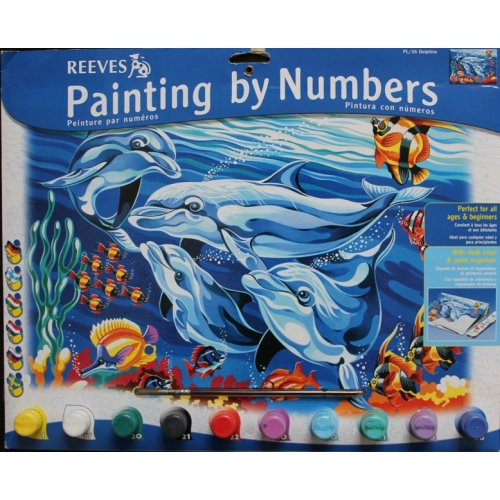 Pictura Cu Numere Senior Nivel Intermediar - Delfini - Reeves