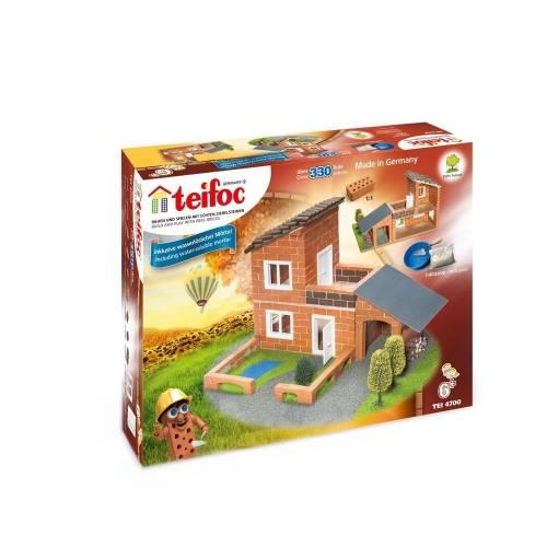 Set de constructie din caramizi - Vila cu garaj - Teifoc
