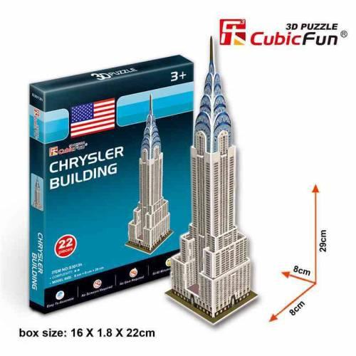 Cladirea Chrysler SUA - Puzzle 3D - 22 de piese