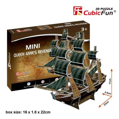 Mini Corabia Queen Anne's Revenge - Puzzle 3D - 24 de piese