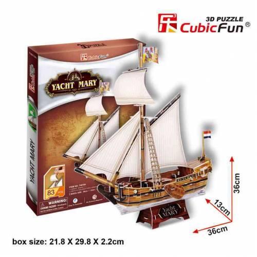 Yachtul Mary - Puzzle 3D - 83 de piese