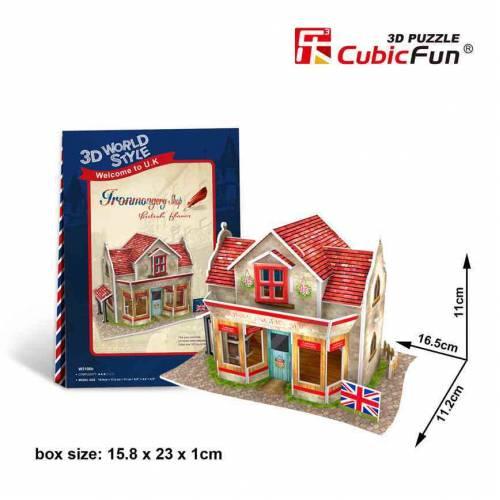 Magazin confectii metalice Anglia - Puzzle 3D - 34 de piese