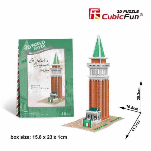 Clopotnita Venetia - Puzzle 3D - 18 piese