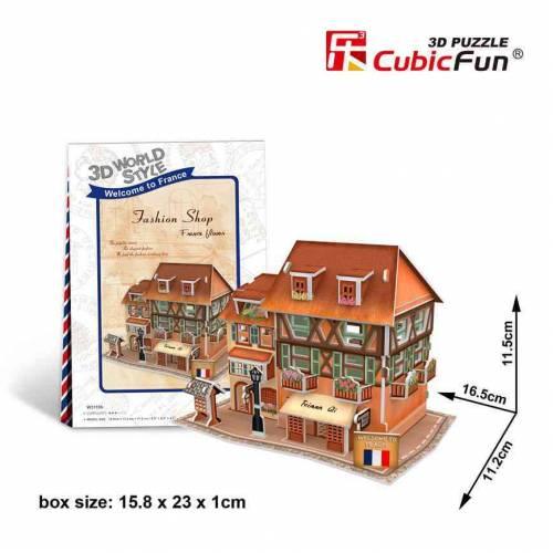 Magazin vestimentar Franta - Puzzle 3D - 31 de piese