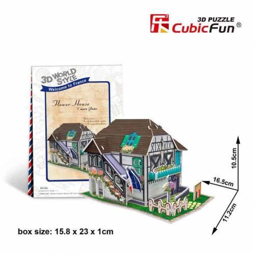 Casa cu flori Franta - Puzzle 3D - 31 de piese