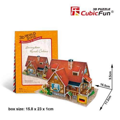 Casa rurala Germania - Puzzle 3D - 37 de piese
