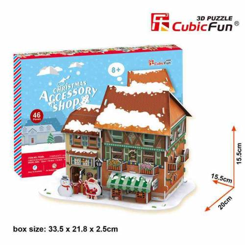 Christmas Accessory Shop - Puzzle 3D - 46 piese
