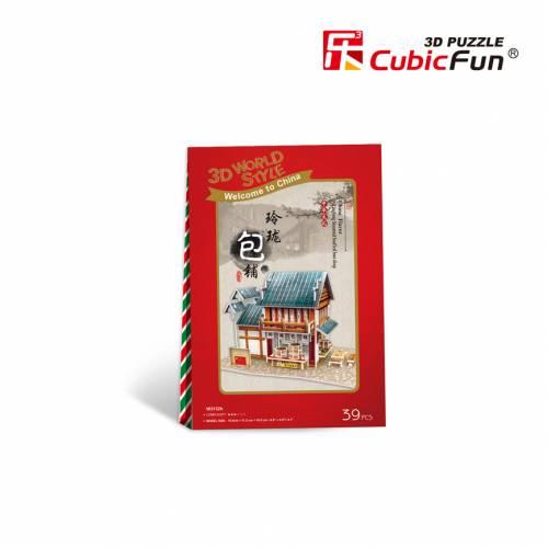 Patiserie traditionala chinezeasca - Puzzle 3D - 39 de piese