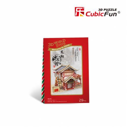 Taverna traditionala chinezeasca - Puzzle 3D - 29 de piese