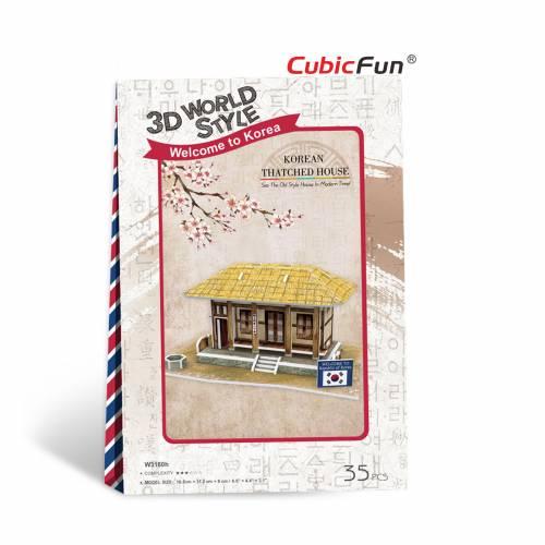 Casa traditionala sud-coreeana - Puzzle 3D - 35 de piese