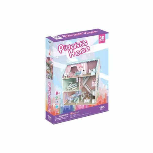 Colectia Casuta papusilor - Casa pianistului - Puzzle 3D - 105 piese