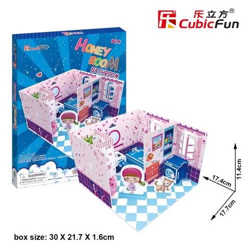Colectia Honey Room - Baie - Puzzle 3D - 37 de piese