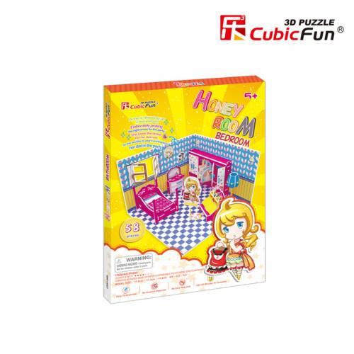 Colectia Honey Room - Dormitor - Puzzle 3D - 58 de piese