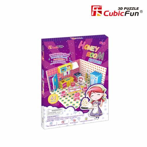 Colectia Honey Room - Bucatarie - Puzzle 3D - 61 de piese