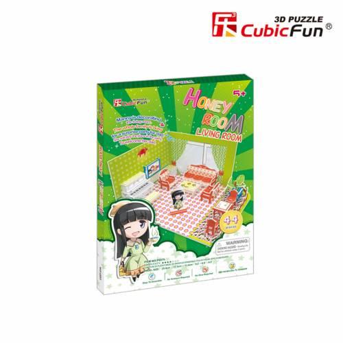 Colectia Honey Room - Sufragerie - Puzzle 3D - 44 de piese