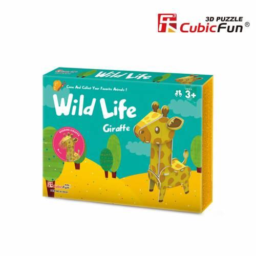 Colectia Animale Salbatice - Girafa - Puzzle 3D - 13 piese