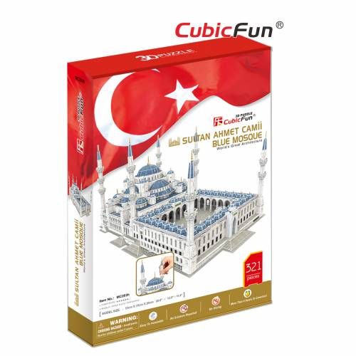 Moscheea Albastra Sultan Ahmet - Puzzle 3D - 321 de piese