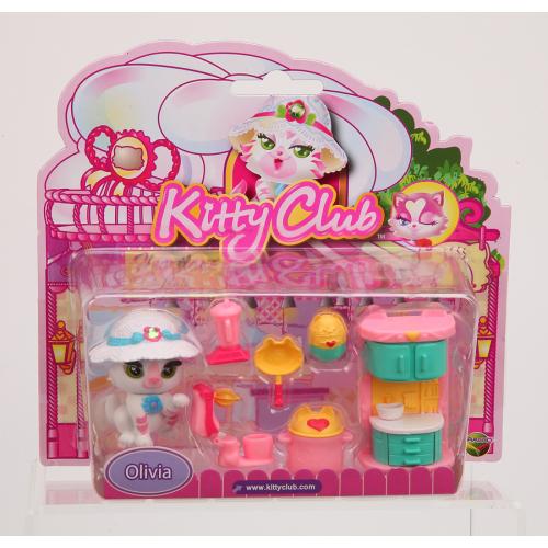 Figurina de catifea Kitty cu accesorii (set mare) - Olivia