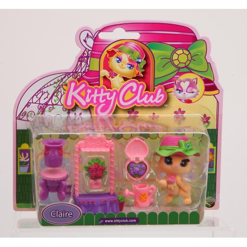Figurina de catifea Kitty cu accesorii (set mare) - Claire