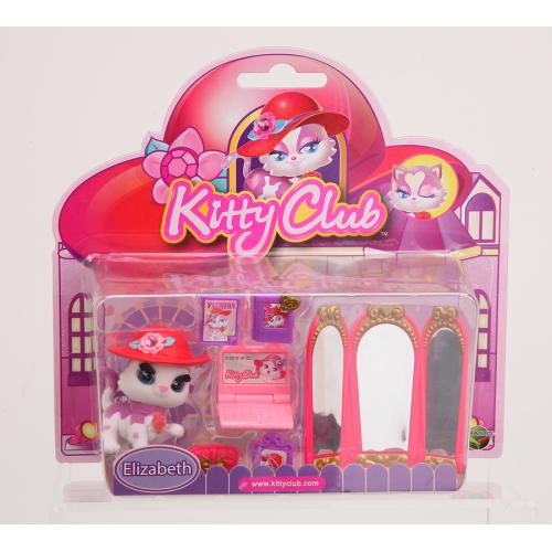 Figurina de catifea Kitty cu accesorii (set mare) - Elizabeth
