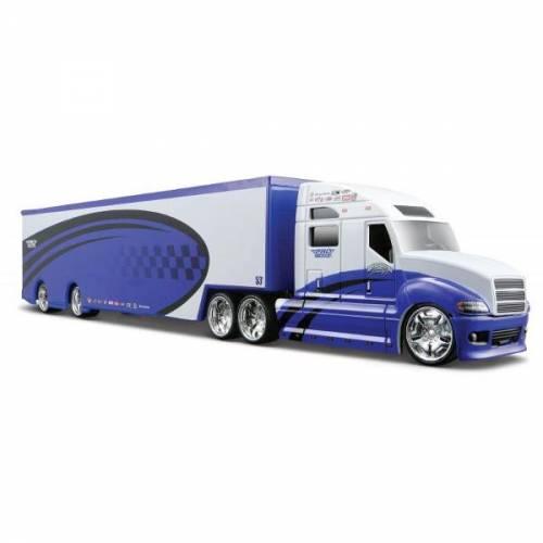 Minimodel Camion Pro Rodz 1:64 - Albastru & Alb