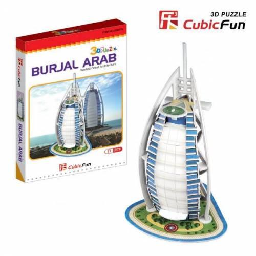 Burj Al Arab Dubai - Puzzle 3D - 17 piese