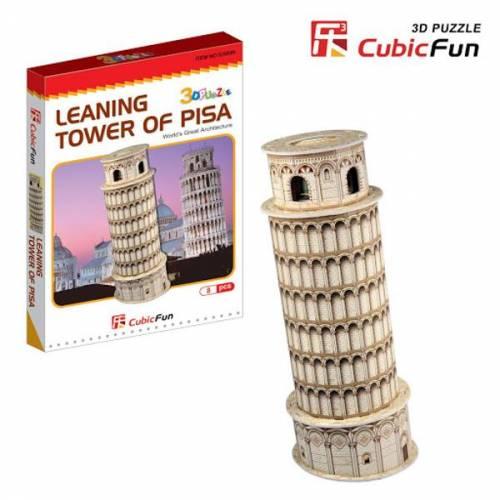 Turnul inclinat din Pisa Italia - Puzzle 3D - 30 de piese