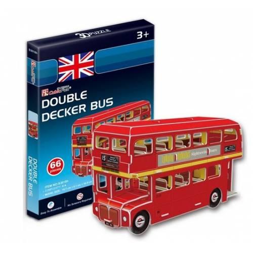 Autobuz supraetajat Londra Anglia - Puzzle 3D - 66 de bucati