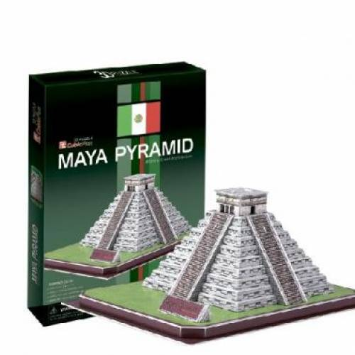 Piramida Maya Mexic - Puzzle 3D - 19 piese