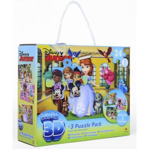 Set 3 jocuri Disney Junior - Puzzle 3D - 72 de piese
