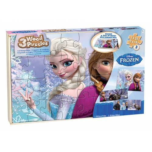 Puzzle din lemn Frozen 2 - 64 de piese