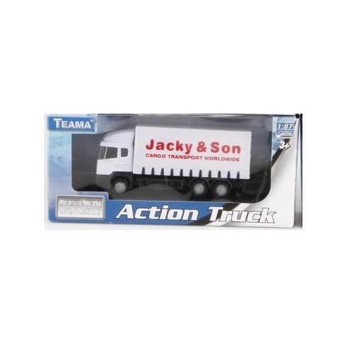 Camion Action Truck - Alb - Scara 1:87