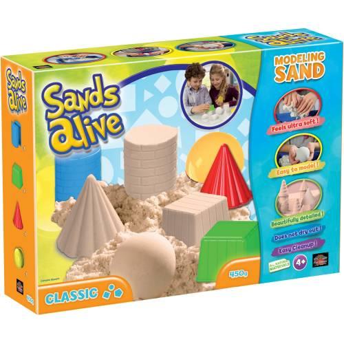 Set nisip kinetic Sands Alive si forme pentru constructie