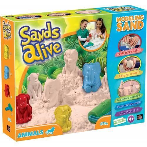 Set nisip kinetic Sands Alive si forme pentru animale