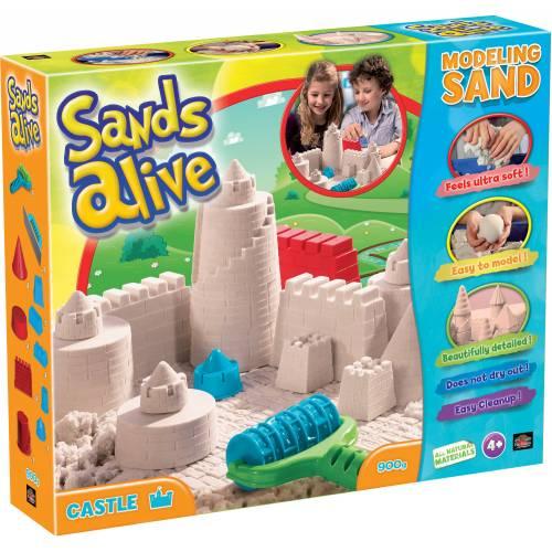 Set nisip kinetic Sands Alive si forme pentru castel