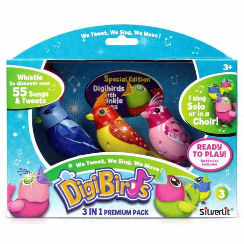 Set trei pasari interactive DigiBirds - varianta 3