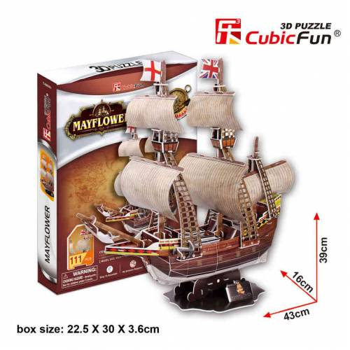 Corabia Mayflower - Puzzle 3D - 111 piese