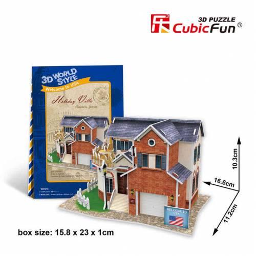 Casa de vacanta SUA - Puzzle 3D - 28 de piese
