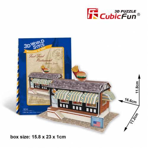 Restaurant fast food SUA - Puzzle 3D - 37 de piese