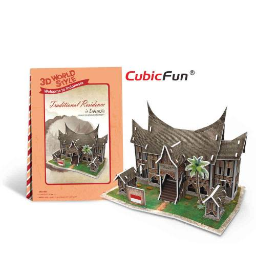 Casa traditionala Indonezia - Puzzle 3D - 30 de piese