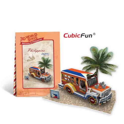Jeepney Filipine - Puzzle 3D - 39 de piese