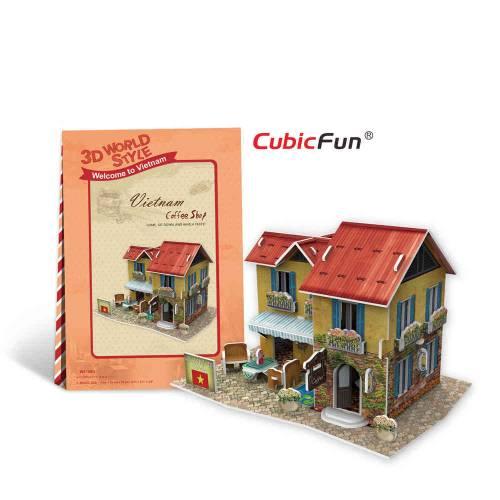 Cafenea vietnameza - Puzzle 3D - 46 de piese