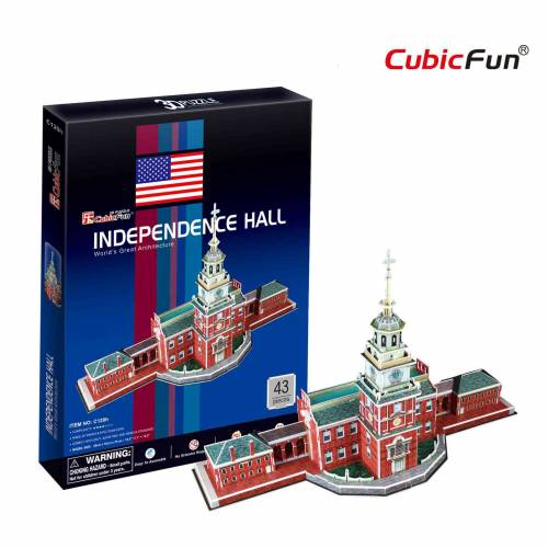 Independence Hall SUA - Puzzle 3D - 43 de piese